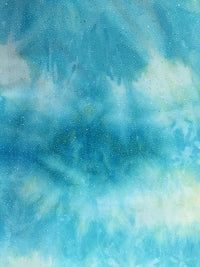 Misc Stretch - 60-inches Wide Glitter Aqua / Teal Close-Out