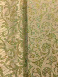 Brocade - 52-inches Wide Reversible Metallic Lime