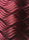 Wavy Stretch Velvet - 60-inches Wide Burgundy