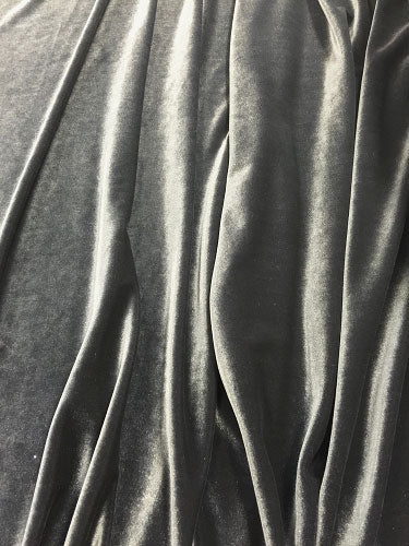 Stretch Velvet - 60-inches Wide Iron Gray