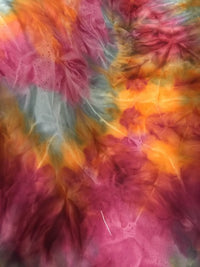 Matte Spandex - 60-inches Wide Rust Tie Dye