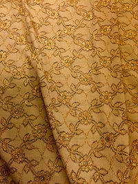 Stretch Lace - 60-inches Wide Fancy Golden Brown