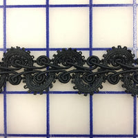Non-Metallic Trim - 1-inch Fancy Scalloped Black