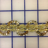 Sequin Trim - 1-inch Gold