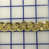Stretch Trim - 3/4-inch Sequined Gold