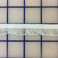 Stretch Trim - 1/2-inch Ruffled Organza White