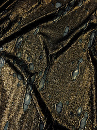 Misc Stretch - 58-inches Wide Metallic Distressed Lycra Copper Close-Out