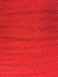 Regular Sparkle Tulle - 54-inches Wide Red