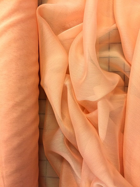 Poly Chiffon Two Tone - 59/60-inches Wide Peach