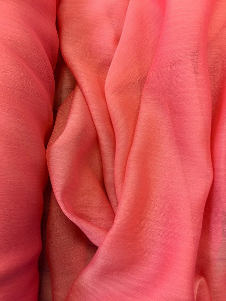 Poly Chiffon Two Tone - 59/60-inches Wide Pucci Rose