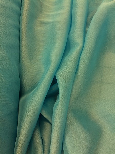 Poly Chiffon Two Tone - 59/60-inches Wide Chinese Aqua