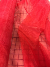Mirror Organza - 58-60-inches Wide Red