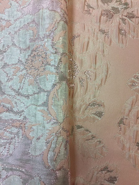 Brocade - 60-inches Wide Reversible Metallic Pink Coral