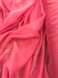Poly Chiffon Two Tone - 58-inches Wide Bright Pink