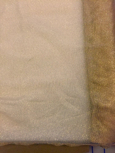 Metallic Tulle - 60-inches Wide Gold