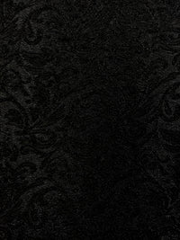 Stretch Brocade - 56-inches Wide Black