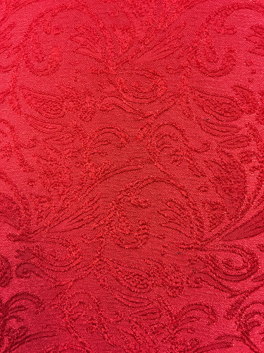 Stretch Brocade - 56-inches Wide Red