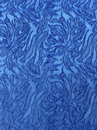 Stretch Brocade - 56-inches Wide Royal Blue