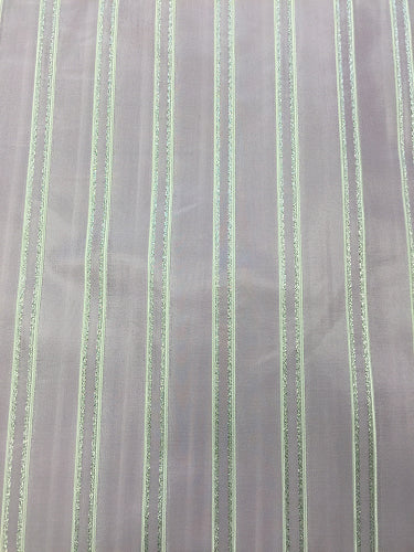 Taffeta - 54-inches Wide Metallic Striped Lilac