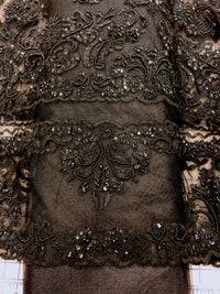 Fancy Lace - Border Lace 52-inches Wide Black