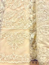 Fancy Lace - Border Lace 52-inches Wide Ivory