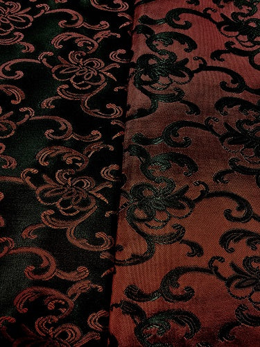 Brocade - 58-inches Wide Satin Wine