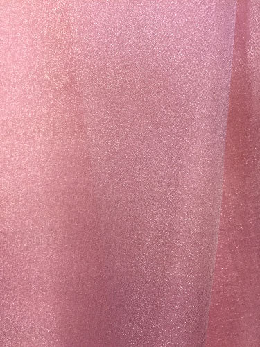 Sparkle Organza - 45-inches Wide Dusty Rose
