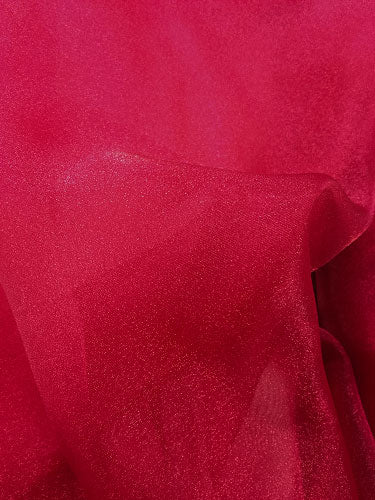 Sparkle Organza - 45-inches Dark Red