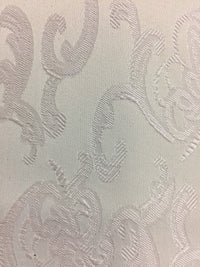 Brocade - 55-inches Wide Satin Ivory
