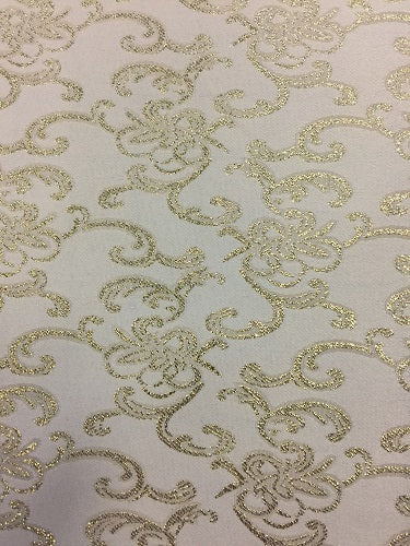 Brocade - 57-inches Wide Satin Metallic White Gold