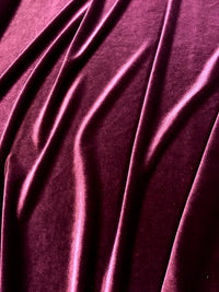 Stretch Velvet - 60-inches Wide Burgundy