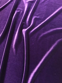 Stretch Velvet - 60-inches Wide Eggplant