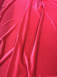 Stretch Velvet - 60-inches Wide Hot Pink