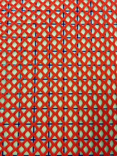 Fishnet - 60-inches Wide Large Hole Fishnet Red