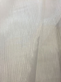 Organdy Crystal Stripe - 58-inches Wide White