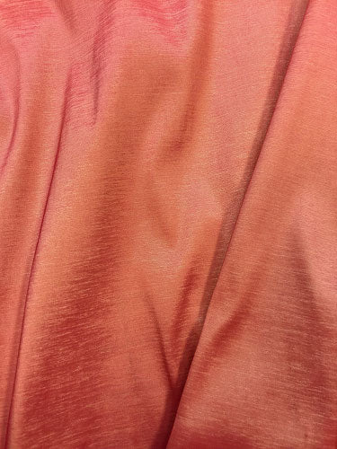 Stretch Taffeta - 58-inches Wide Coral/Gold