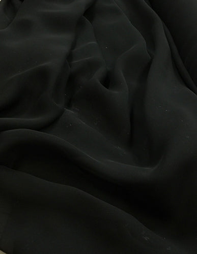 Poly Chiffon - 60-inches Wide Black
