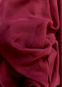 Poly Chiffon - 60-inches Wide Mystic Burgundy