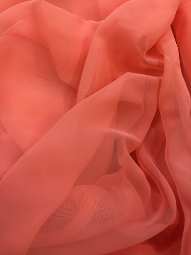 Poly Chiffon - 60-inches Wide Fiesta Coral