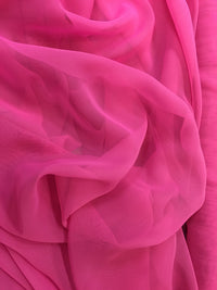Poly Chiffon - 60-inches Wide Garden Fuchsia