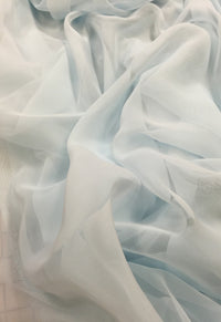 Poly Chiffon - 60-inches Wide Ice Blue