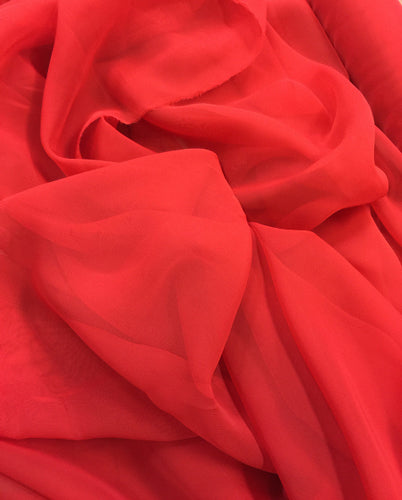 Poly Chiffon - 60-inches Wide Red
