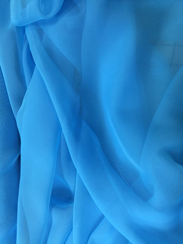 Poly Chiffon - 60-inches Wide Baja Turquoise