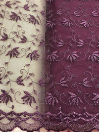 Fancy Lace - 52-inches Wide Wine