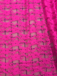 Stretch Lace - 60-inches Wide Bright Pink