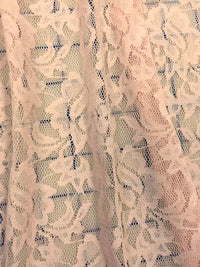 Stretch Lace - 60-inches Wide Light Pink