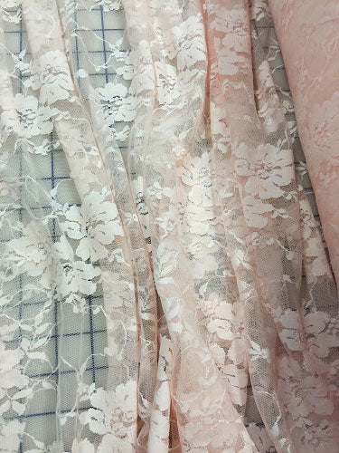 Stretch Lace - 58-inches Wide Light Peach
