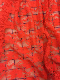 Stretch Lace - 60-inches Wide Red