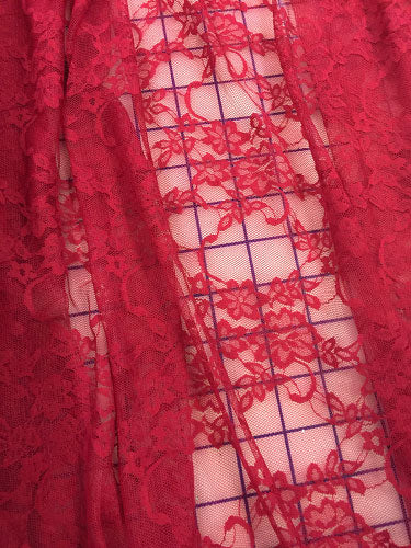 Stretch Lace - 60-inches Wide Dark Red