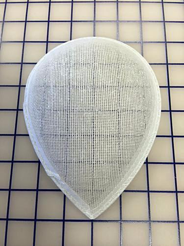 Headpiece Form: Buckram Oval Teardrop Large